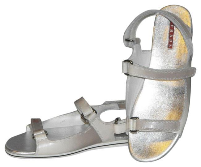 Item - Gray Ombre Patent Fume Leather Flats Two Tones Gladiator Logo Sandals Size EU 38.5 (Approx. US 8.5) Regular (M, B)