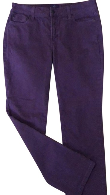 Item - Purple Distressed Skinny -5 Pocket Straight Leg Jeans Size Petite 8 (M)