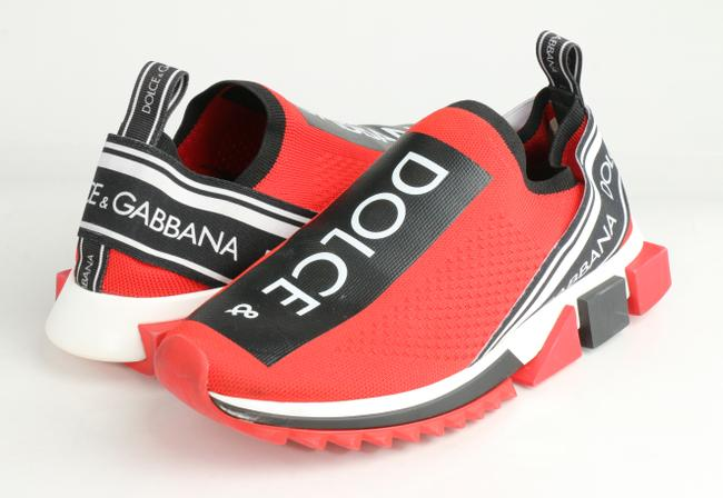 Item - Red Stretch Mesh Sorrento Sneakers with Logo Shoes