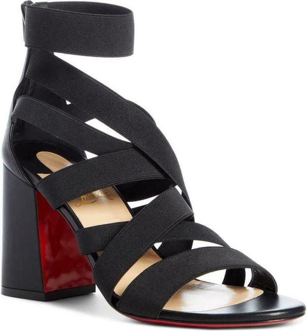 Item - Black Gladiapop Stretch Strappy Sandals Size EU 38 (Approx. US 8) Regular (M, B)
