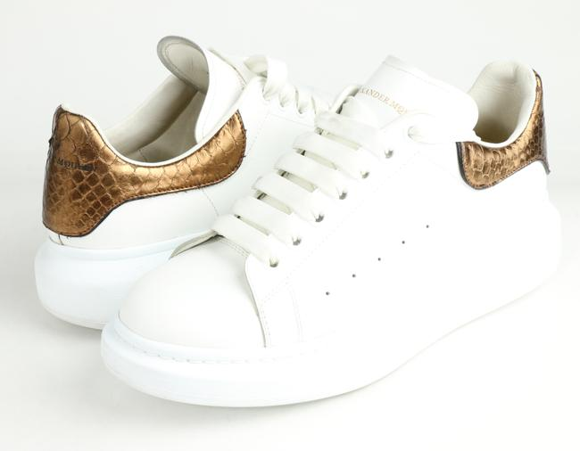 Item - White/Rose Gold Oversized Sneakers Shoes
