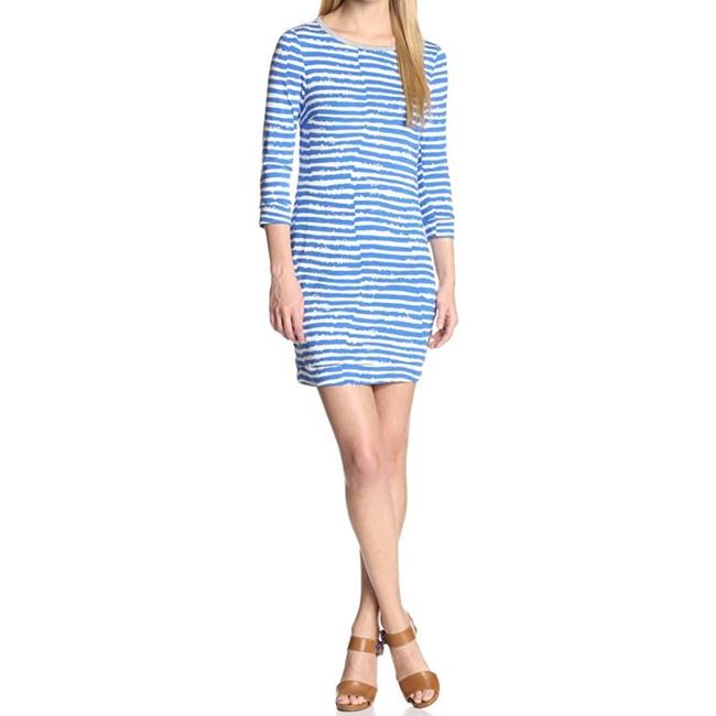 Item - Blue & White Striped Indio Small Short Casual Dress Size 6 (S)
