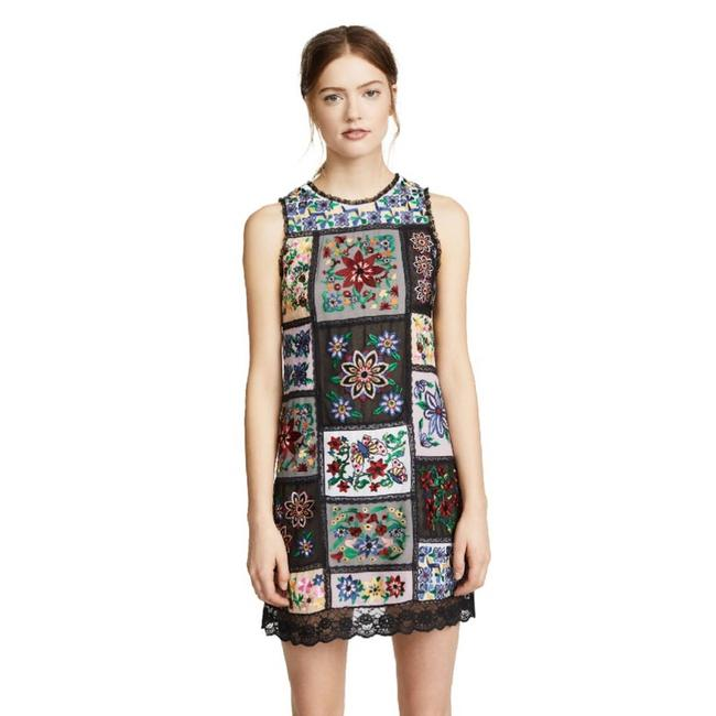 Item - Purple Marcelina Embroidered Tunic Cocktail Dress Size 4 (S)