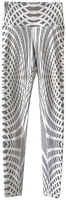 Item - Gray White XS Yoga High Waist Engineering Print Activewear Bottoms Size 0 (XS, 25)