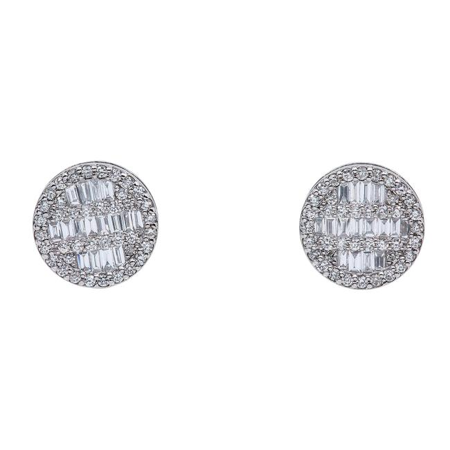 Item - White Gold 14k Ladies with 0.73 Baguette Ct Diamond Earrings