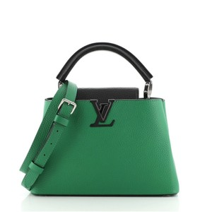 Item - Capucines Bb Green Leather Satchel