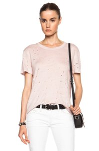 Item - Blush Clay Linen Distressed M Tee Shirt