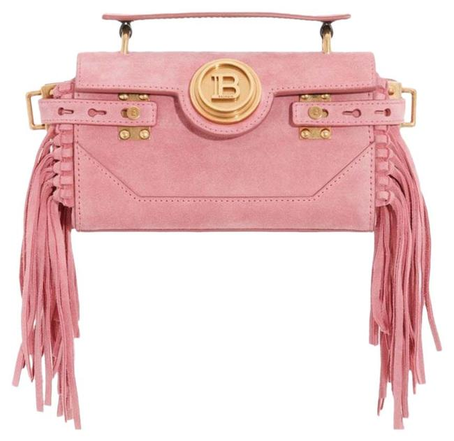 Item - Bbuzz Baguette Fringe Pink Suede Leather Cross Body Bag