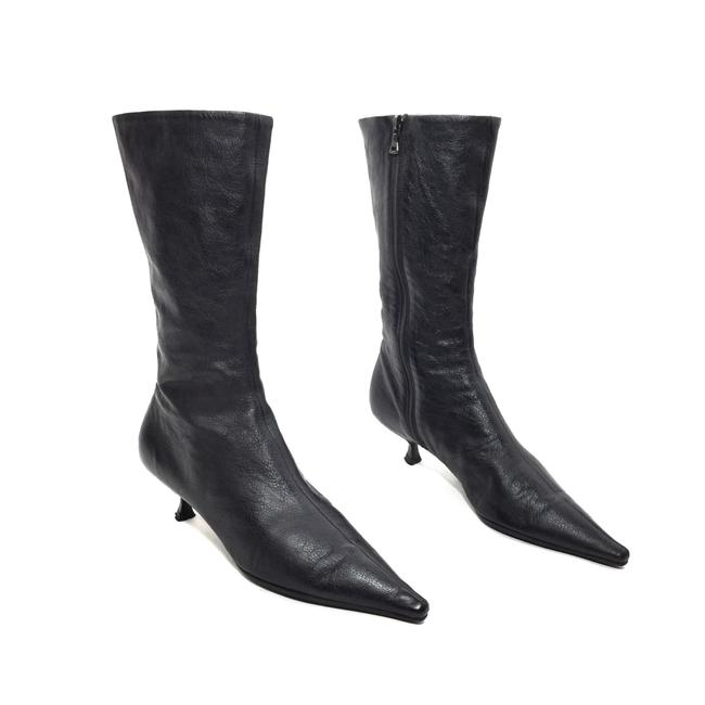 Item - Black Leather Midcalf Zip Boots/Booties Size EU 36.5 (Approx. US 6.5) Regular (M, B)