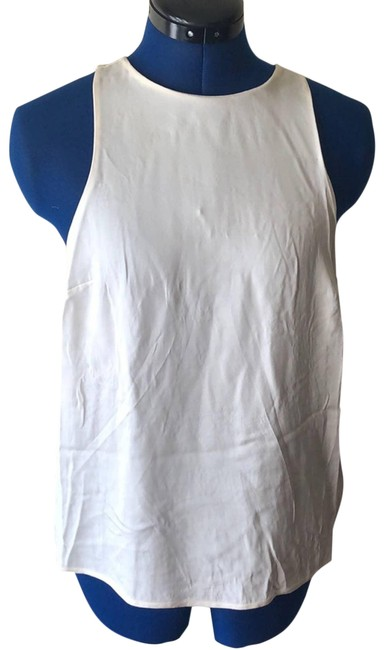 Item - White Silk Sleeveless Blouse Size 2 (XS)