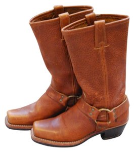 Frye Leather Leather Cognac Boots