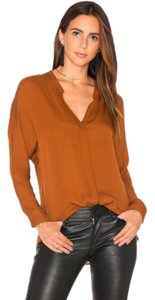 Item - Orange Double Front In Cinnamon Stick Silk Msrp Blouse
