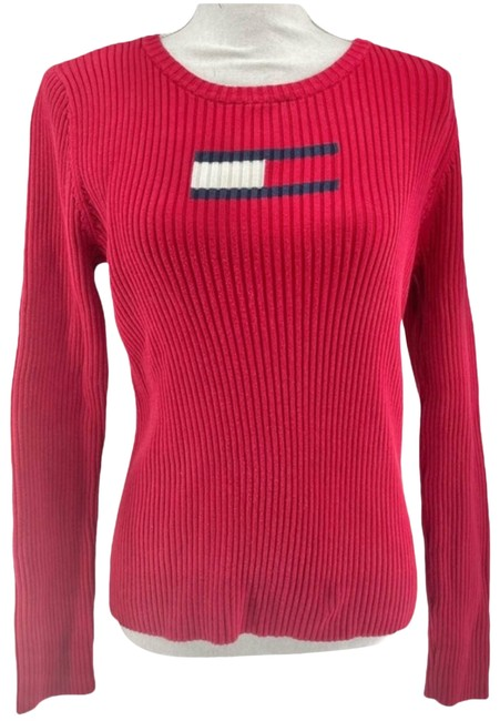 Item - Y2k Vintage Fully Ribbed Size Large Red Sweater