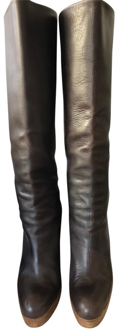 Item - Brown Wedge Boots/Booties Size EU 36.5 (Approx. US 6.5) Narrow (Aa, N)