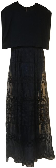 Item - Navy And Gown Long Formal Dress Size 2 (XS)