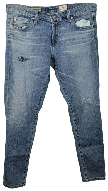 Item - Blue Distressed The Legging Ankle Skinny Jeans Size 31 (6, M)