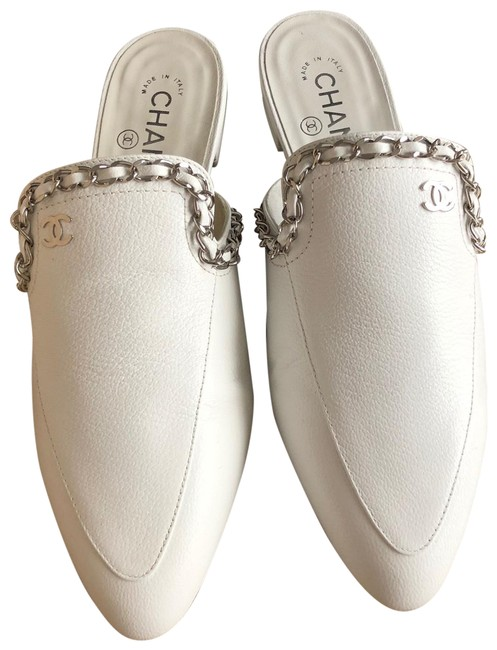 Item - White Mules/Slides Size EU 38 (Approx. US 8) Regular (M, B)