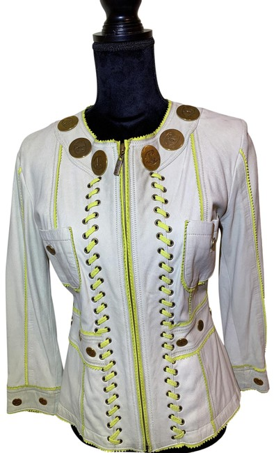 Item - Cream and Yellow Vintage Jacket Size 8 (M)
