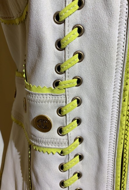 Just Cavalli Cream and Yellow Vintage Jacket Size 8 (M) Just Cavalli Cream and Yellow Vintage Jacket Size 8 (M) Image 3