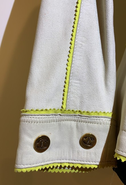Just Cavalli Cream and Yellow Vintage Jacket Size 8 (M) Just Cavalli Cream and Yellow Vintage Jacket Size 8 (M) Image 4