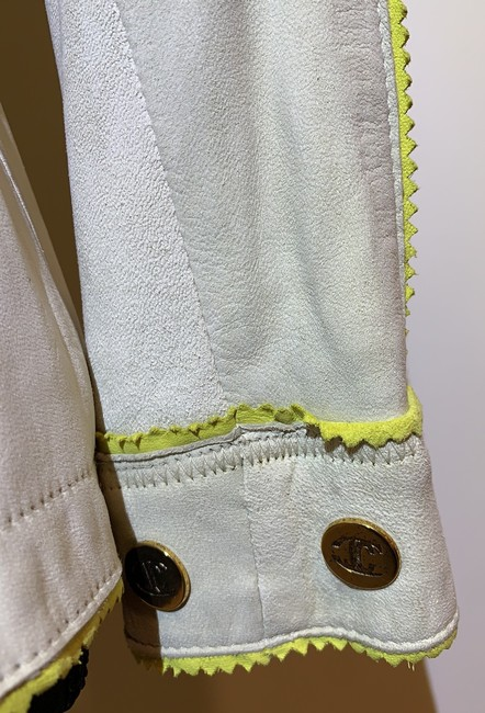 Just Cavalli Cream and Yellow Vintage Jacket Size 8 (M) Just Cavalli Cream and Yellow Vintage Jacket Size 8 (M) Image 5