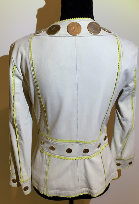 Just Cavalli Cream and Yellow Vintage Jacket Size 8 (M) Just Cavalli Cream and Yellow Vintage Jacket Size 8 (M) Image 6