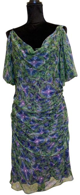 Item - Green Multi 111dw86 Short Cocktail Dress Size 10 (M)