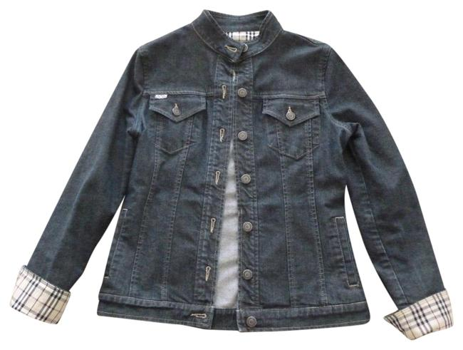 Item - Blue Jean Plaid Cuffs Jacket Size 4 (S)