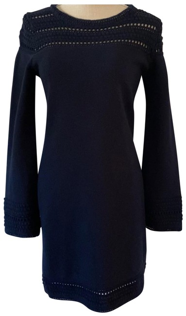 Item - Navy Knit Sweater Small Mid-length Work/Office Dress Size 4 (S)