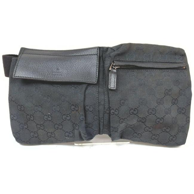Item - Waist Pouch/ Black Canvas Shoulder Bag