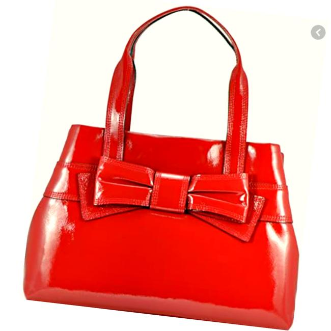 Item - Claverly Maryanne Rare Picasso Red Patent Leather Tote