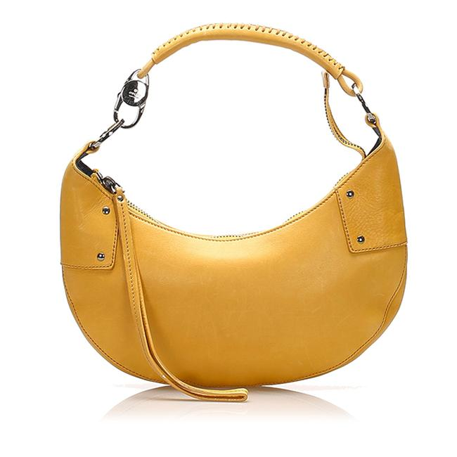Item - Yellow Leather Hobo Bag