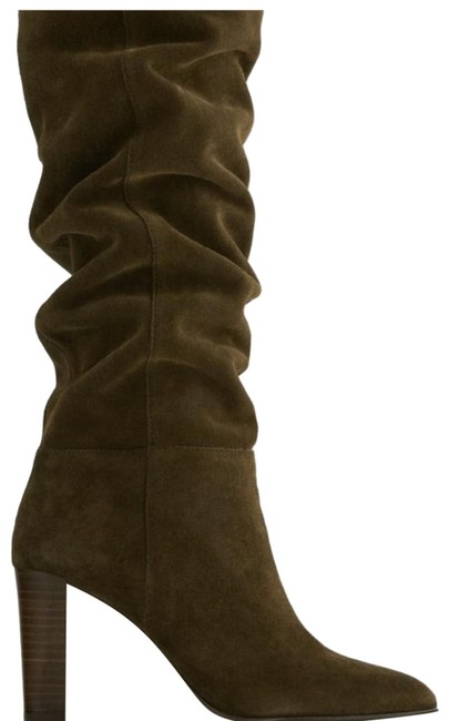 Item - Brown Slouchy Suede Heeled Boots/Booties Size US 8 Regular (M, B)