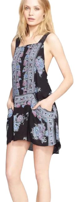 Item - Multicolor Paradise Song Short Casual Dress Size 4 (S)