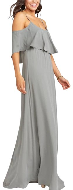 Item - Gray Nwot Caitlyn Ruffle Maxi S Formal Dress Size 4 (S)