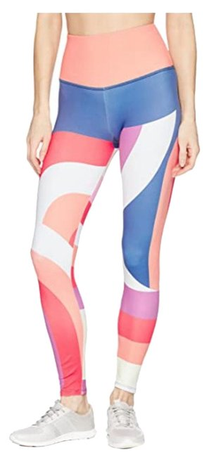 Item - Multicolor Curvy Geo High Rise Midi Activewear Bottoms Size 10 (M)