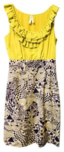 Anthropologie Silk Maeve Yellow Dress
