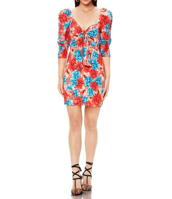 Item - Red and Blue Mila Tie Front Mini Short Casual Dress Size 8 (M)