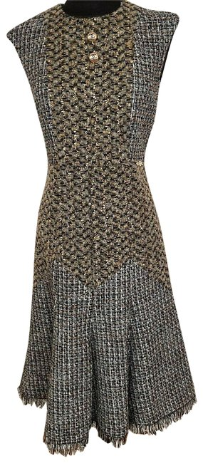 Item - Multi Tweed Mid-length Night Out Dress Size 6 (S)