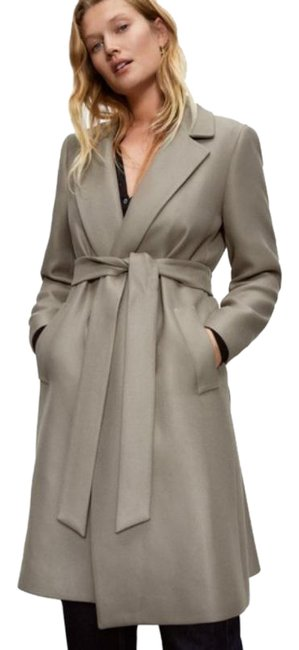 Item - Gray Belted Long Coat Size 0 (XS)