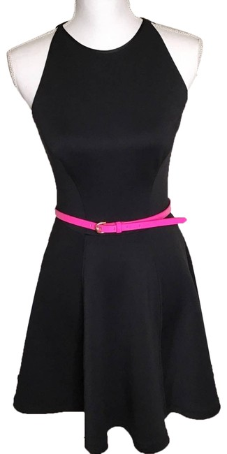 Item - Pink Preeny Belted Full Skater Night Out Dress Size 6 (S)