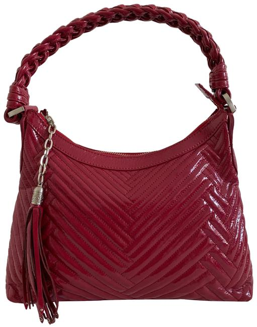Item - Quilted Laury Red Patent Leather Hobo Bag