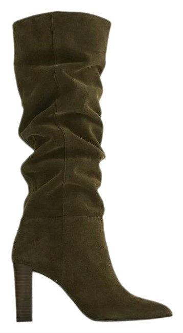 Item - Green Over Knee High Shaft Split Leather 2008/610 Boots/Booties Size US 8 Regular (M, B)