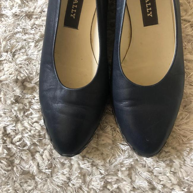 Bally Blue Womens Leather Heels Made In Italy Wedges Size EU 37.5 (Approx. US 7.5) Regular (M, B) Bally Blue Womens Leather Heels Made In Italy Wedges Size EU 37.5 (Approx. US 7.5) Regular (M, B) Image 2