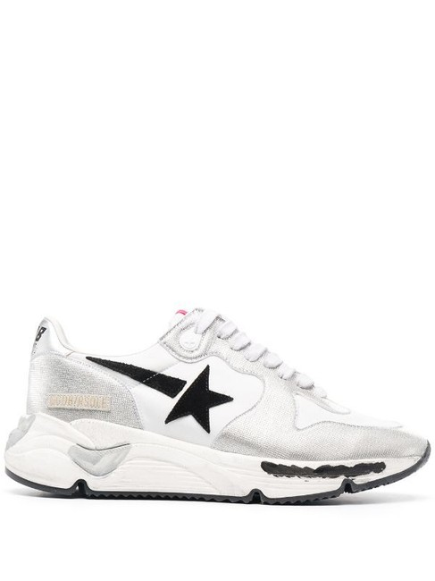 Item - Silver 10045 Star Running Leather Sneakers Size EU 35 (Approx. US 5) Regular (M, B)
