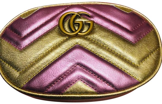 Item - Belt Marmont Fanny Pack Gold Pink Leather Cross Body Bag