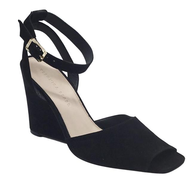 Item - Black Suede Cyndi Wedges Size EU 39.5 (Approx. US 9.5) Regular (M, B)