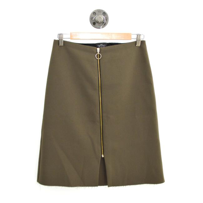 Item - Green/ Gold Petite Pencil #185-1267 Skirt Size 6 (S, 28)