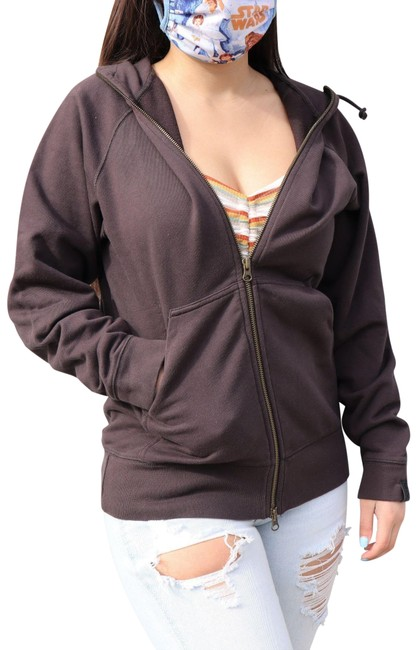 Item - Brown Cotton Sweater Hoodie Activewear Size 12 (L)