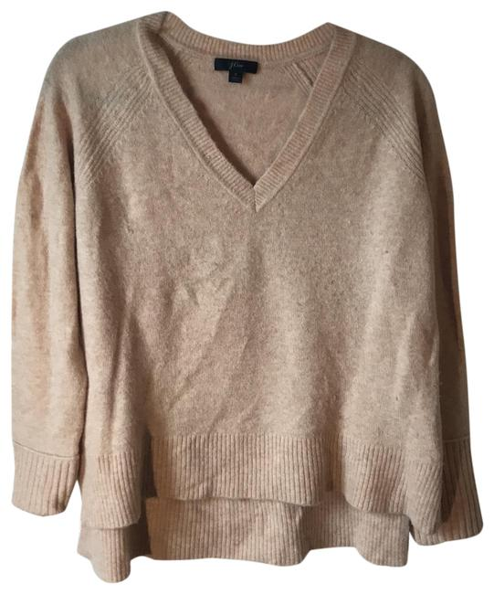 Item - Slouchy V-neck Supersoft Yarn Warm Oatmeal Sweater